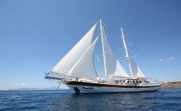 Caner iv 36 m sailing ketch 6 double cabins turkey