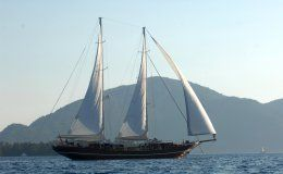 Mare nostrum luxury motor sailer 43 m 6 double cabins turkey