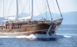 Kadir kaptain 37 m luxury charter gulet 6 cabins turkey