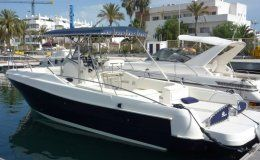 Charter boat quer 36 mediterranea day charters up to 11 guests ibiza