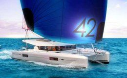 L42 catamaran for charter in italy