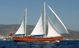 Enderim a catamaran for charter in turkey