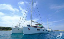 Adriatic lion lagoon 620 catamaran for charter in croatia
