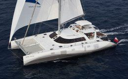Santa ana catamarans for charter in the bvi