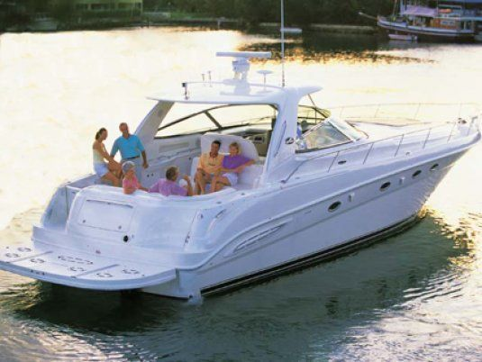 Sea ray 460 day charter up to guests puerto banus marbella